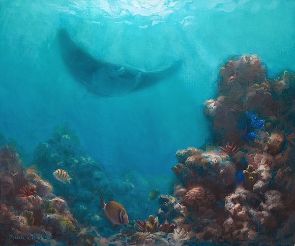 Bathroom Wall Art Canvas Artwork Nautical Coral Reef Ocean: Pin By Karen Whitworth On Hawaiian Art Of Karen Whitowrth