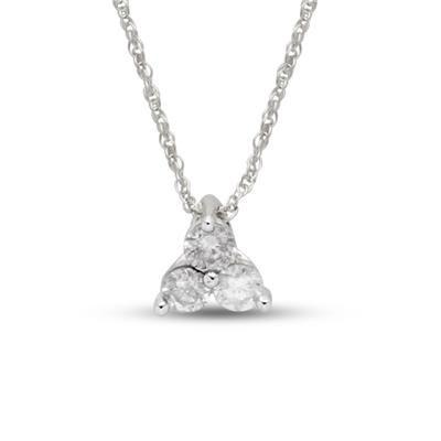 9ct white gold 14 carat diamond trilogy pendant with chain sgl 9ct white gold 14 carat diamond trilogy pendant with chain sgl certified i3 audiocablefo light Images