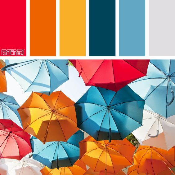 Houses Built of Cards in 2020 | Blue colour palette. Red colour palette. Orange color palettes