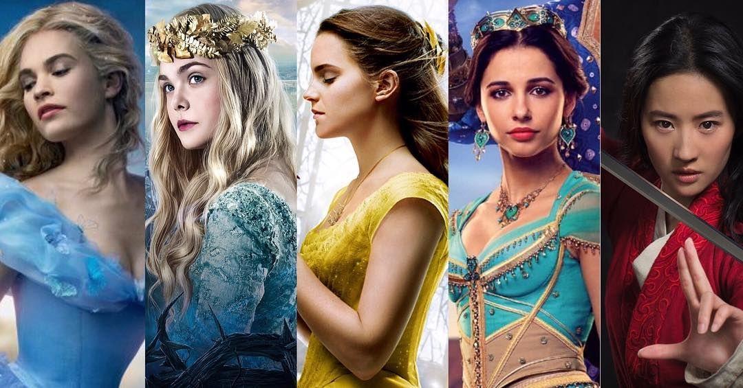 Disney Princess Cinderella Aurora Belle Jasmine Mulan Lilyjames Ellefanning Emmawatson Naomiscott Liuyifei Disney