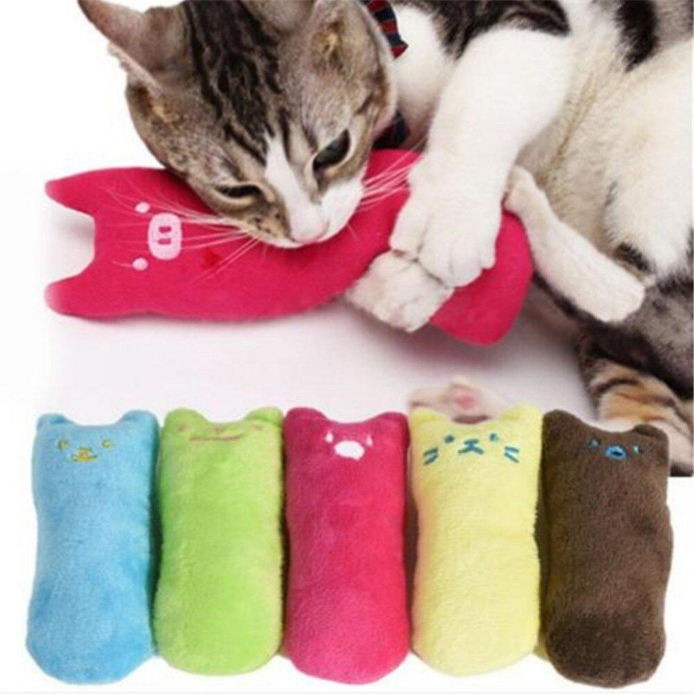 Funny Interactive Plush Cat Toy Pet Kitten Chewing Toy Teeth
