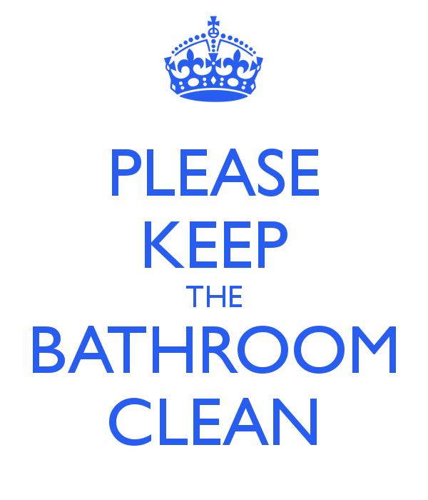 Keep Bathroom Clean Sign Printable
