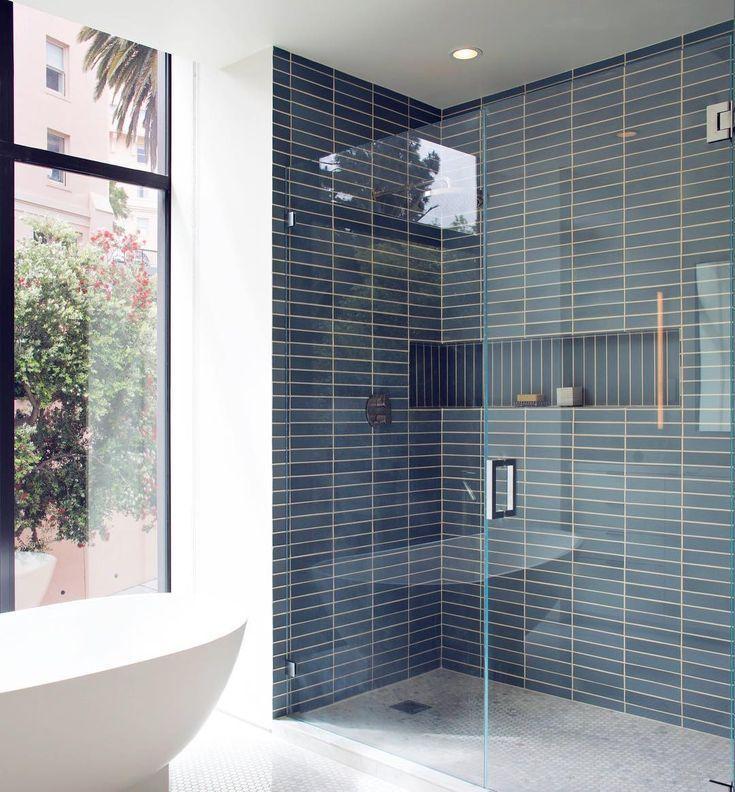 "Heath Ceramics's Tile Feed on Instagram: ""The kind of niche that every shower dreams of �� Design: @gabradley. �: @marikoreed"""