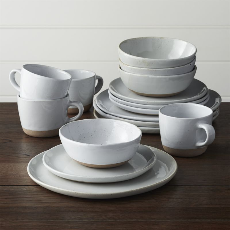Welcome White 16-Piece Dinnerware Set in Dinnerware Collections | Crate and Barrel & Welcome White 16-Piece Dinnerware Set in Dinnerware Collections ...