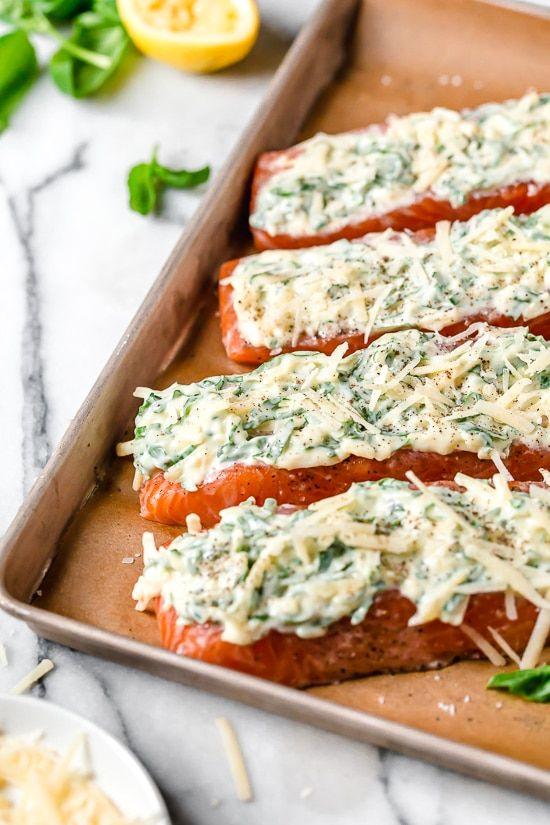 Basil-Parmesan Crusted Salmon (Air Fryer or Oven) - Skinnytaste