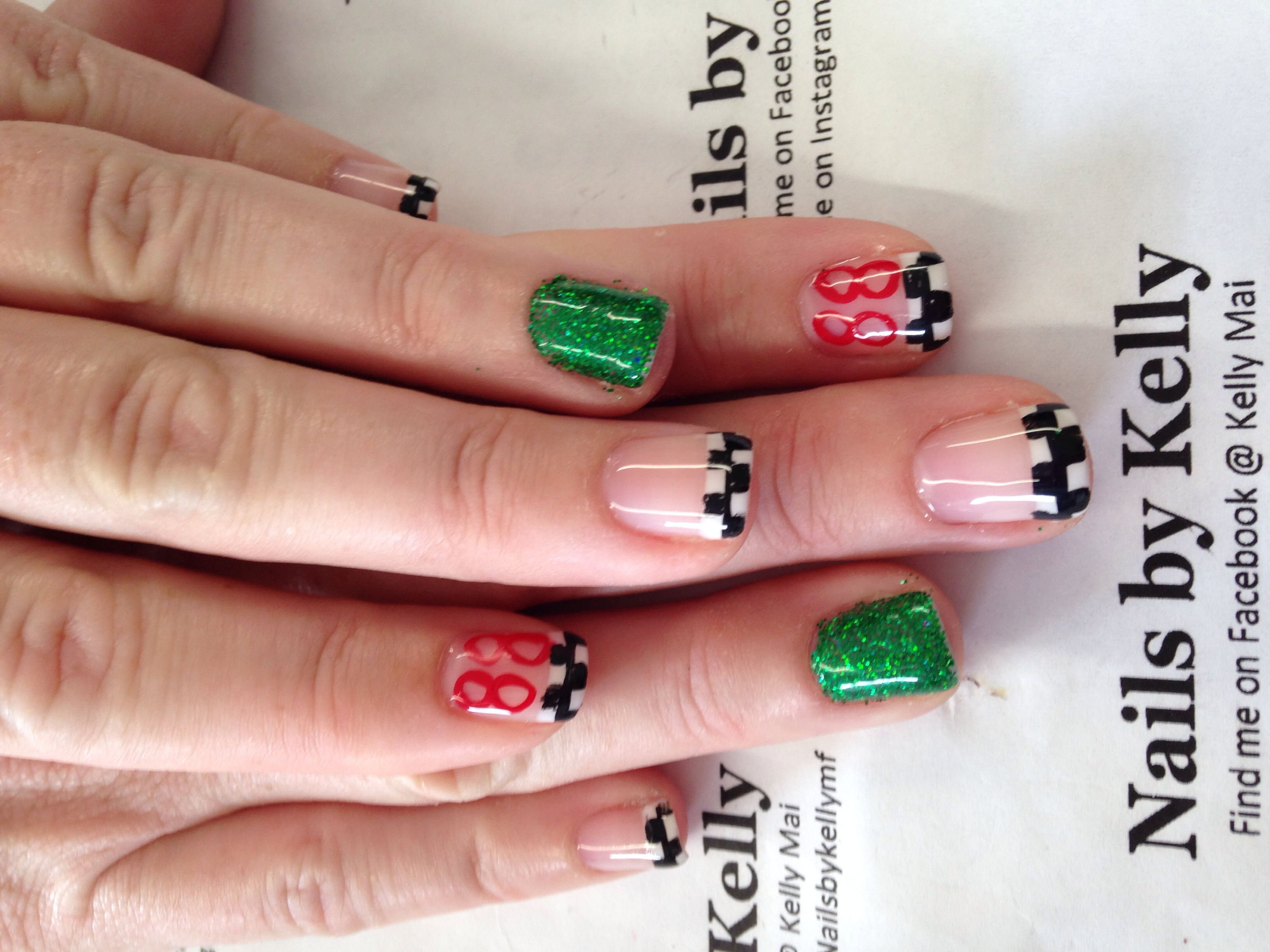 These are my dale jr nails! | nascar nails | Pinterest | Nascar ...
