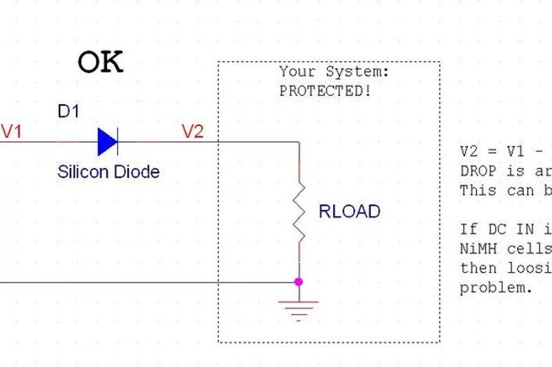 Reverse Polarity Protection For Your Circuit Without The Diode Voltage Drop Diode Circuit Protection