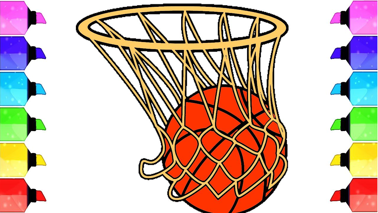 How To Draw A Realistic Basketball Draw A Cute Basketball Easy Draw A Basketball And Hoop Easy Drawings Drawings Basket