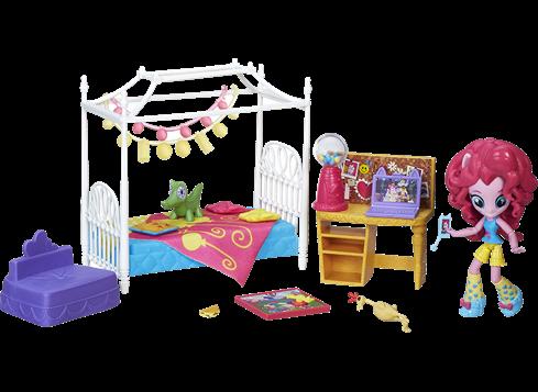 MY LITTLE PONY Equestria Girls Minis -pyjamabileleikkipakkaus Pinkie Pie ja makuuhuone