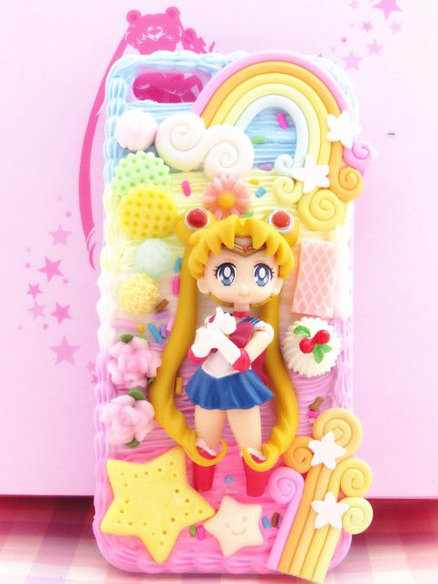 super cute 49032 05b95 Sailor Moon 20th anniversary phone case decoden for iPhone, Samsung ...