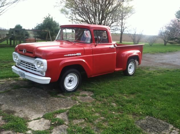 AutoTrader Classics - 1960 Ford F100 Truck Red 8 Cylinder Manual Other   Classic Trucks   & AutoTrader Classics - 1960 Ford F100 Truck Red 8 Cylinder Manual ... markmcfarlin.com