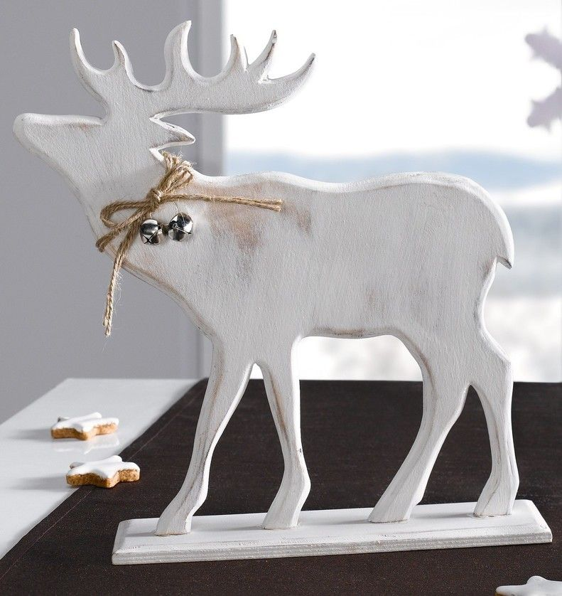 holz hirsch winterwald chantournage noel weihnachten. Black Bedroom Furniture Sets. Home Design Ideas