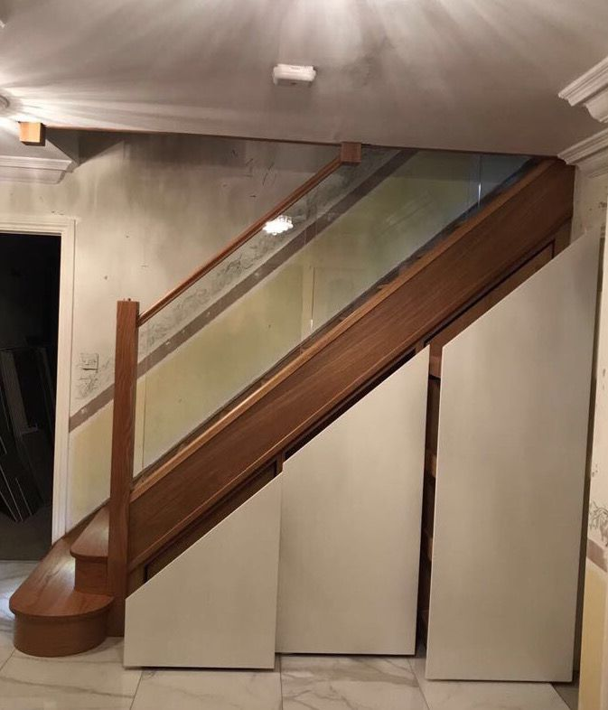 Bespoke Under Stairs Shelving: Bespoke Staircases, Staircase Remodel, Stair