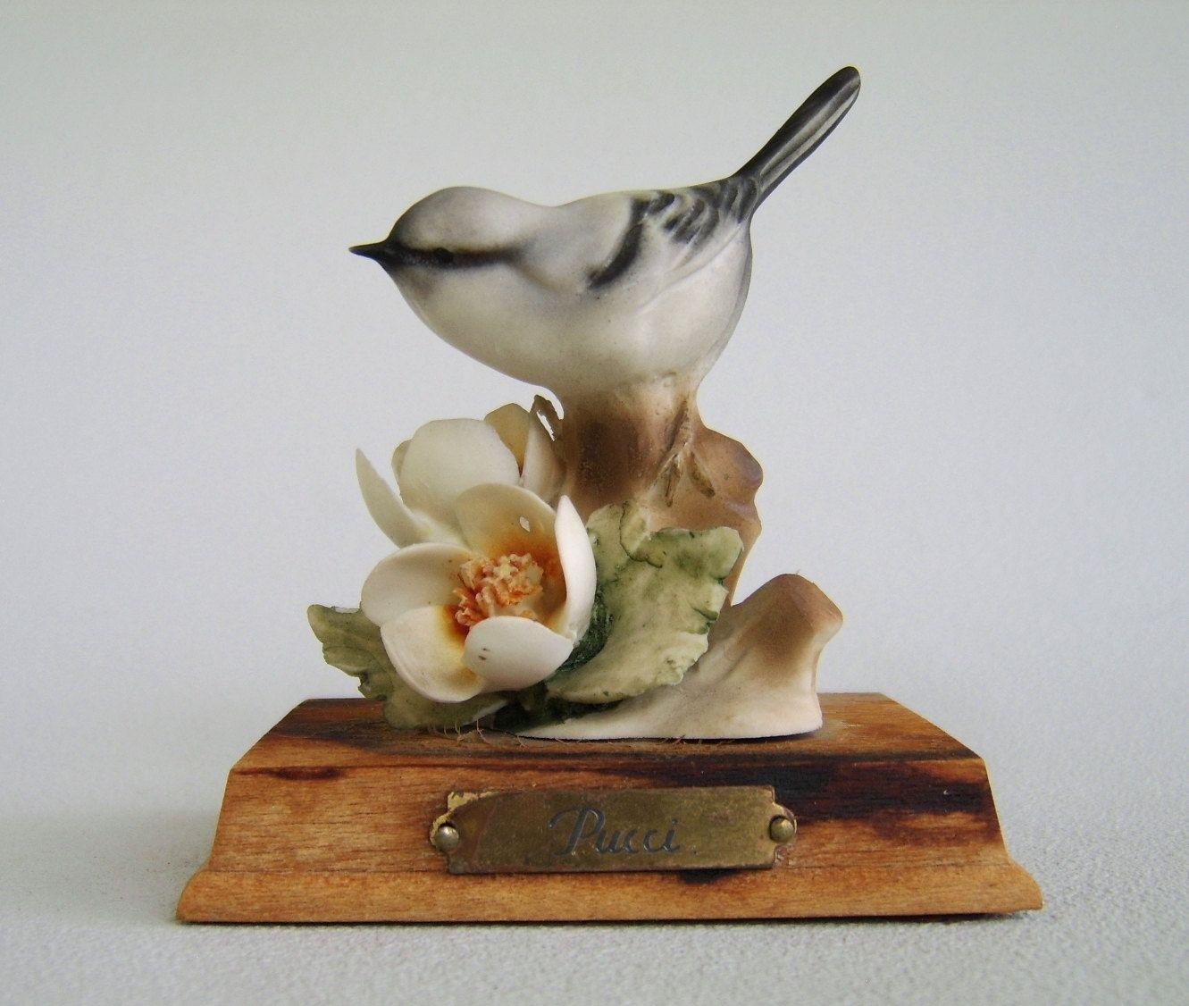 Vintage Pucci Porcelain Bird Figurine Porcelain
