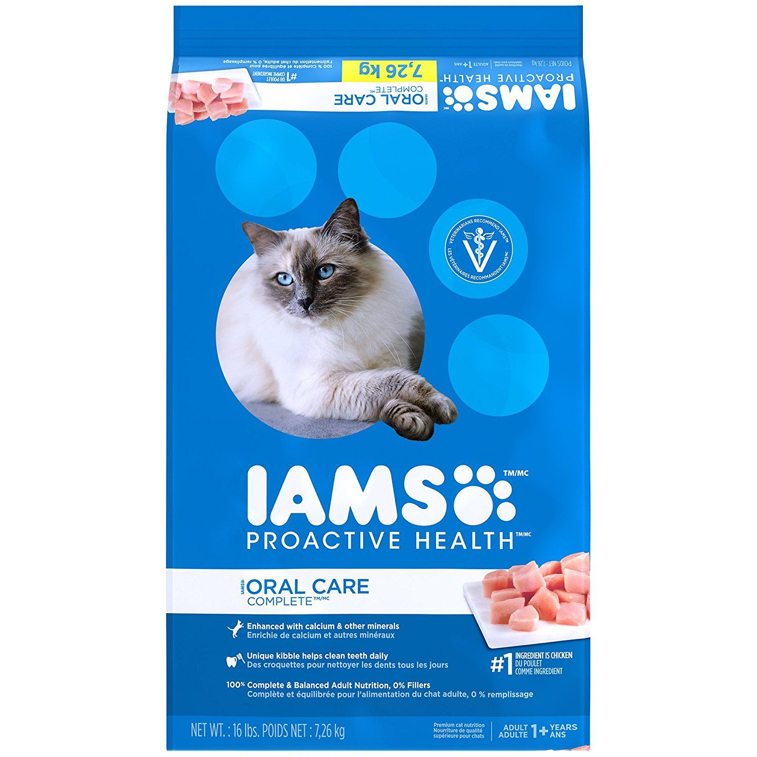 Iams proactive health oral care complete dry cat food 16