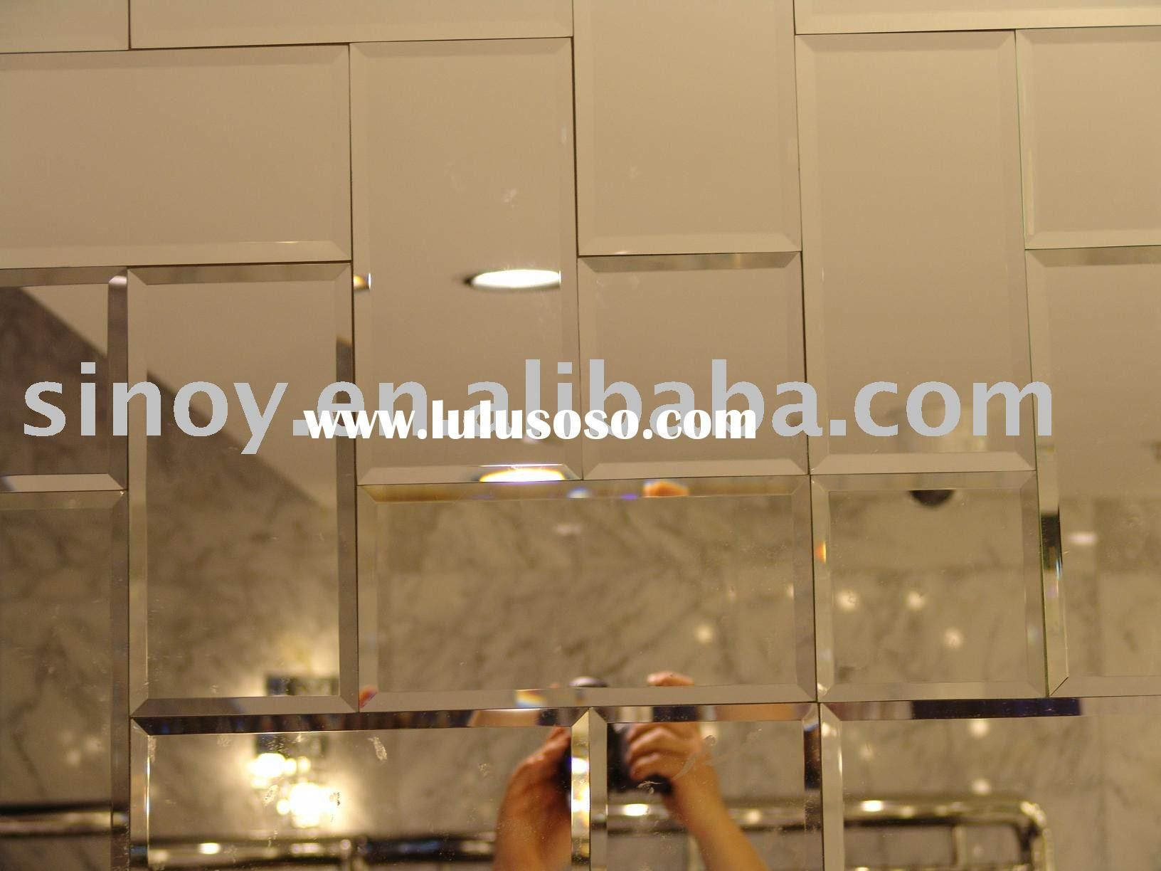 Bathroom Mirror Adhesive walls with mirrors | peel and stick wall mirror tiles, peel and