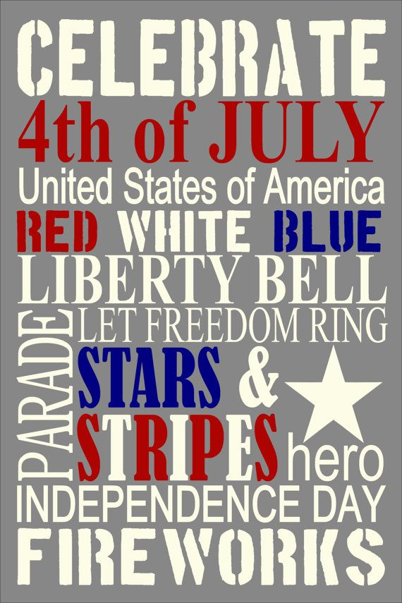 4th Of July Poster One Of My Favorite Holidays Words With Power