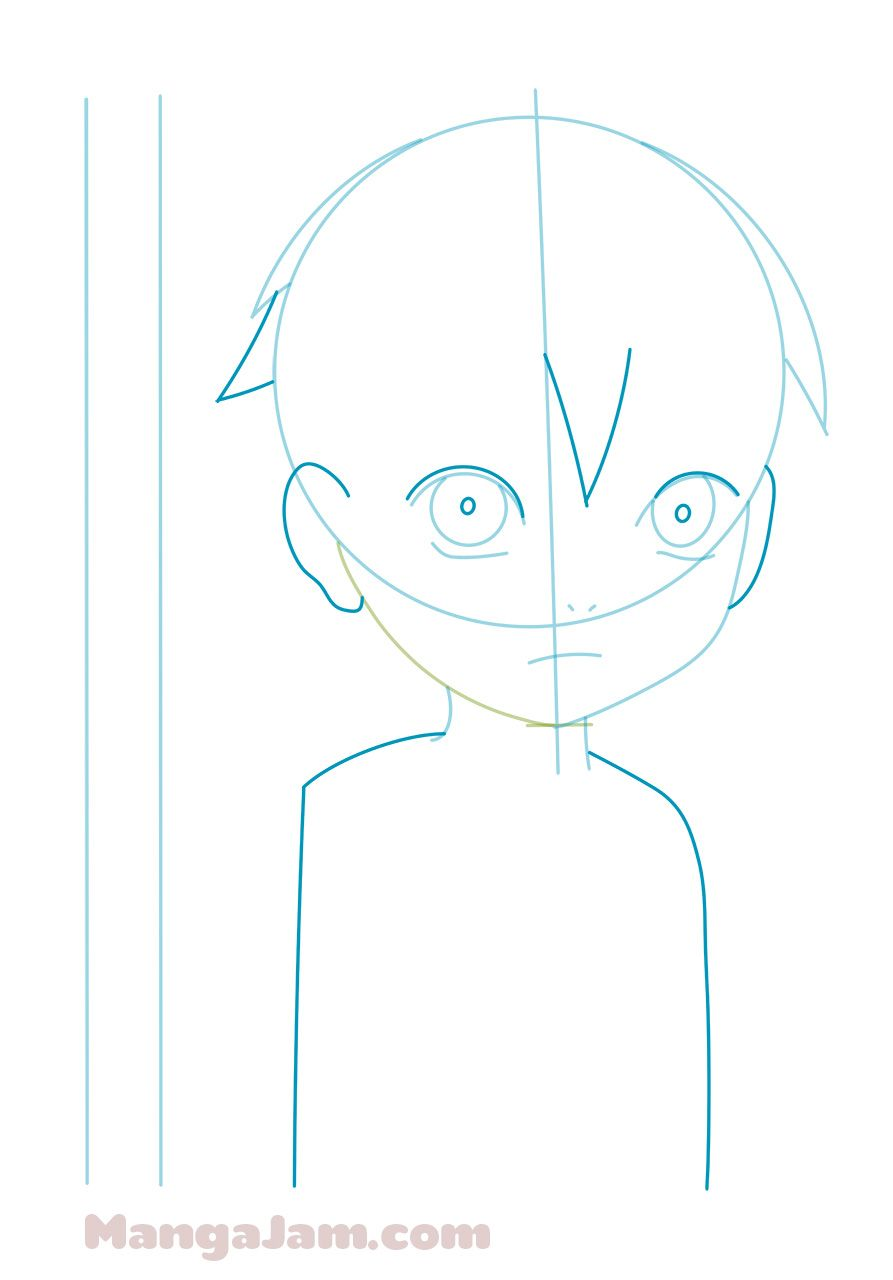 How to draw child naruto from naruto in
