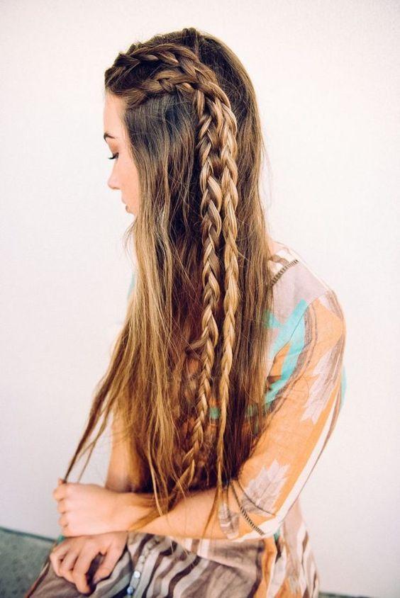Boho Braids Hairstyle Long Hair Tresemme Braids For Long Hair Braided Hairstyles Boho Braided Hairstyles