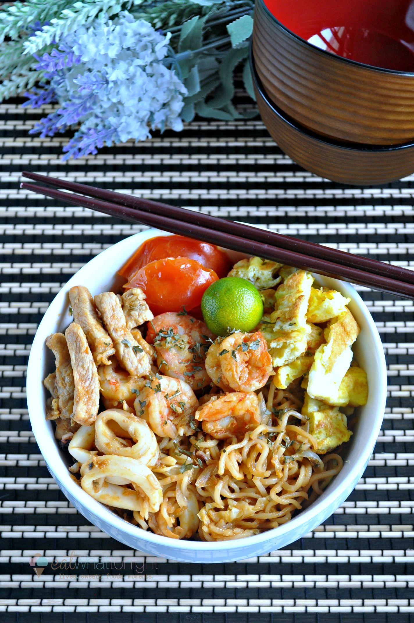 Stir Fried Maggi Goreng Eat What Tonight Recipe Asian Cooking Food Lover Stir Fry