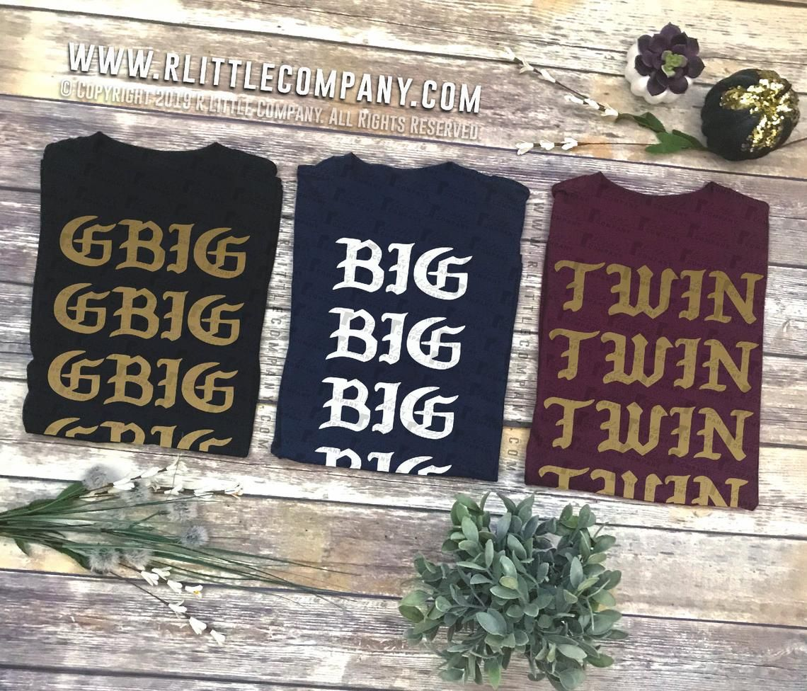 Customizable I Feel Like Little / Big / Family Unisex Tees S-2XL // Big Little Reveal // Big Little Gift // Sorority Shirt #biglittlereveal