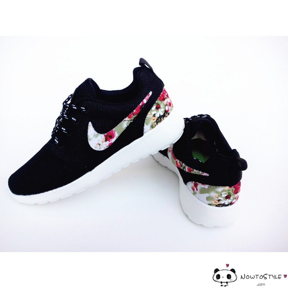 outlet store 123a0 ef531 Nike Roshe Run Mesh Black Floral For Men and Women