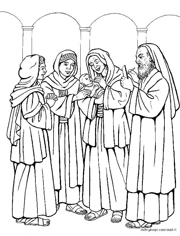 Kleurplaat Chr Kerst De Geboorte Van Johannes De Doper Bijbel Kleurplaten