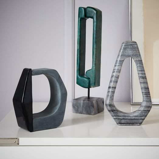 Abstract Sculpture Objects  west elm  Modern decorative objects