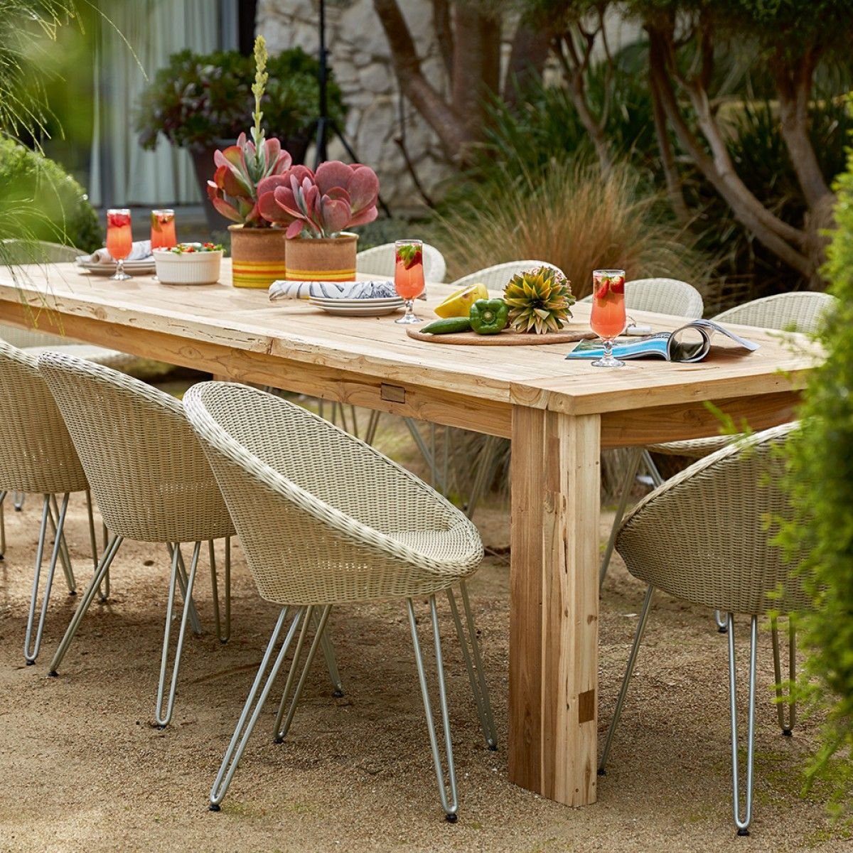 Toulon recycled teak table x mm tables outdoor