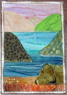 Quilted Fabric Postcard 4x6