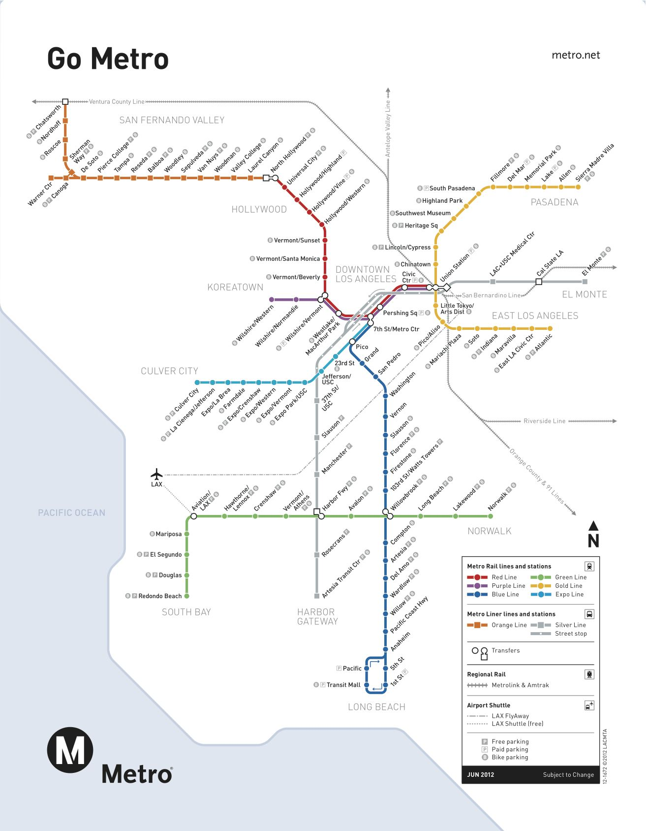 The Metro train map Los Angeles USA I Love LA Pinterest Los