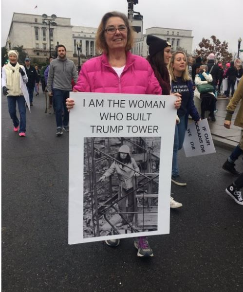 Image result for i am the woman that built trump tower