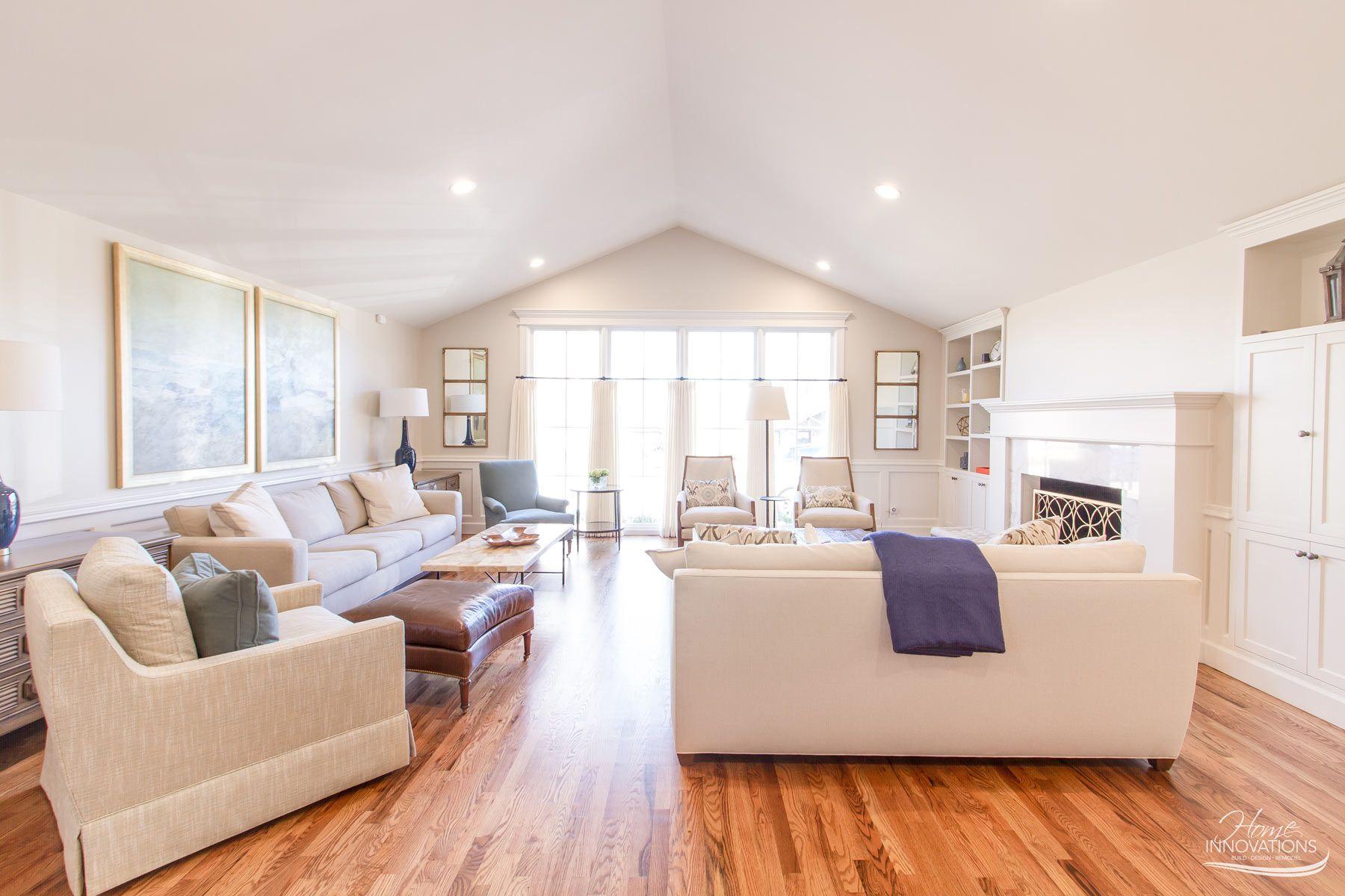 Living Room Remodel | Tulsa OK - Sherwin Williams Natural Tan walls ...