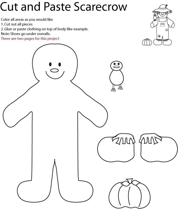 scarecrow coloring pages kindergarten letters - photo#20