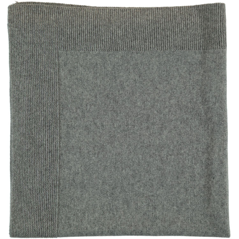 Cydonie Baby Blanket 100 Cashmere Heather Grey Garter Stitch Jersey 75 X 75 Cm Les Lutins Www Leslutins Fr Garter Stitch Cashmere Heather Grey