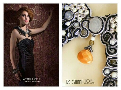 Jewellery collar in soutache