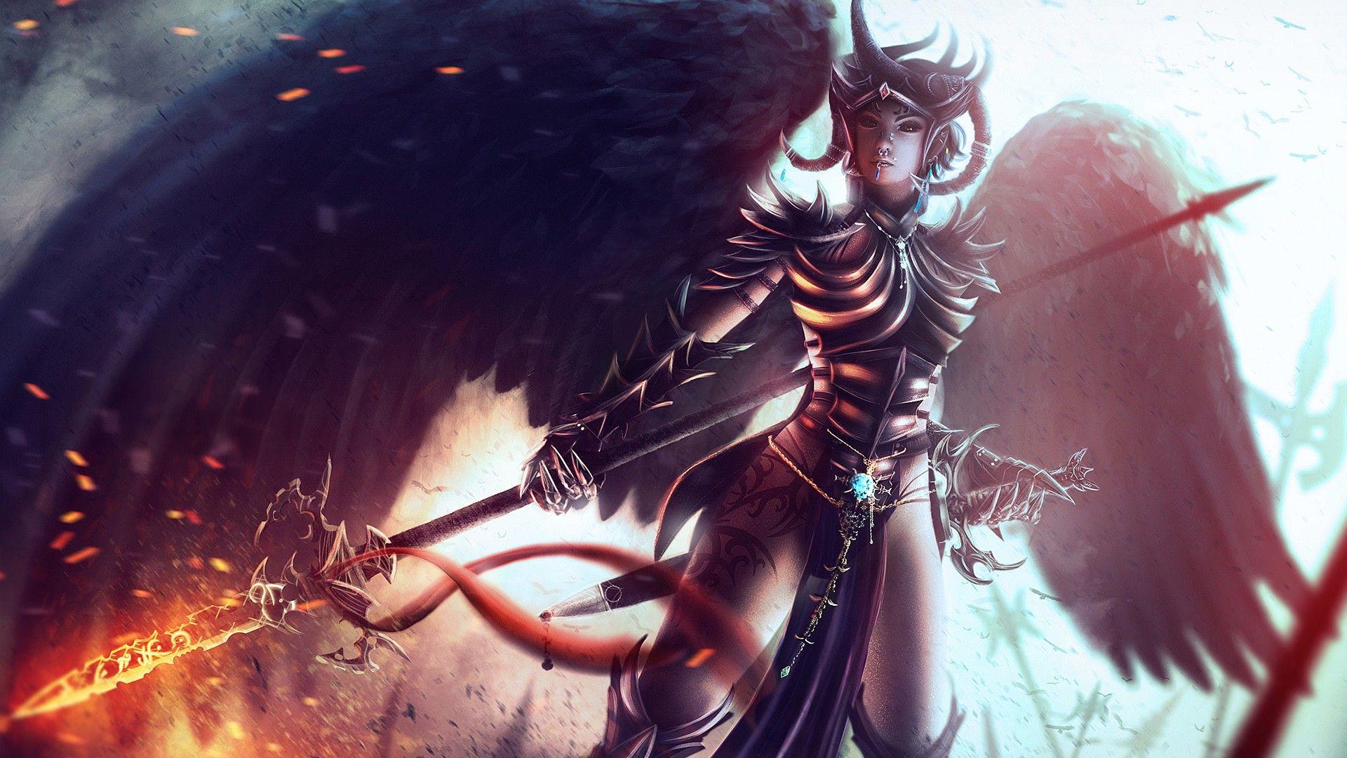 Image Result For D D Wallpaper Warriors Wallpaper Fantasy Girl Angel Warrior
