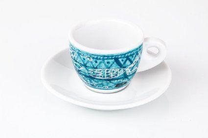 Set of 6 Fine Espresso Coffee Cups - CUP MADE IN ITALY Mod. 'Marsilio Ficino'