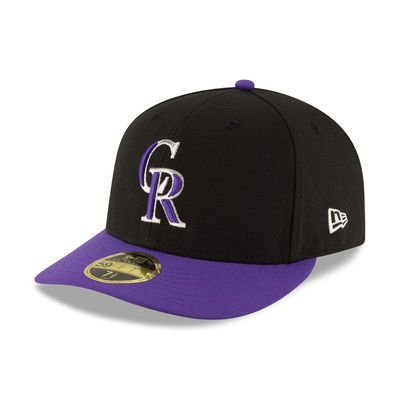 Colorado Rockies New Era Alternate Authentic Collection On Field Low Profile 59fifty Fitted Hat Black Purple Fitted Hats Colorado Rockies New Era