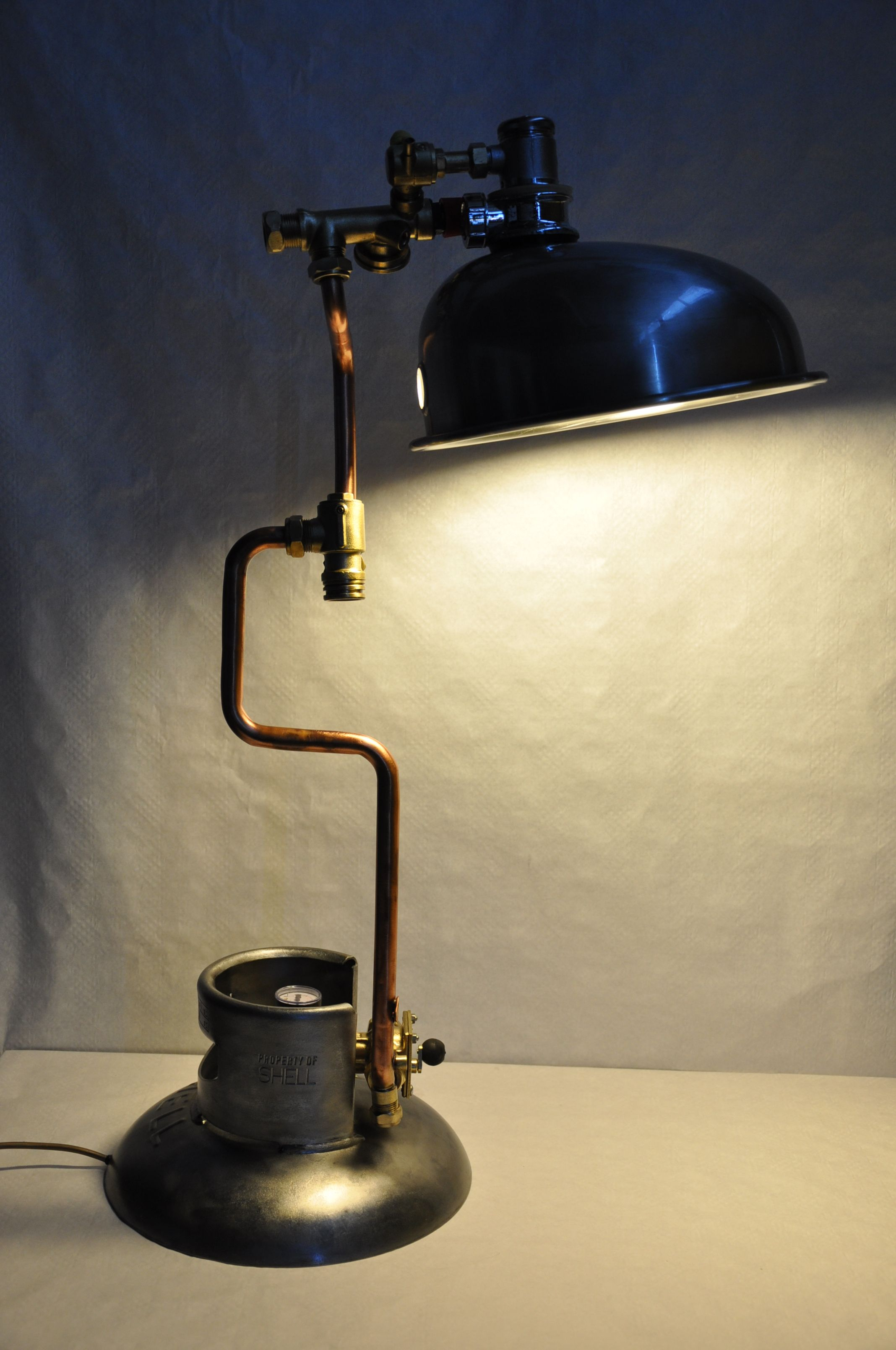 Sink And Gas Bottle Lamp Love Child Of Water And Fire Lamp Bottle Lamp Lamp Design