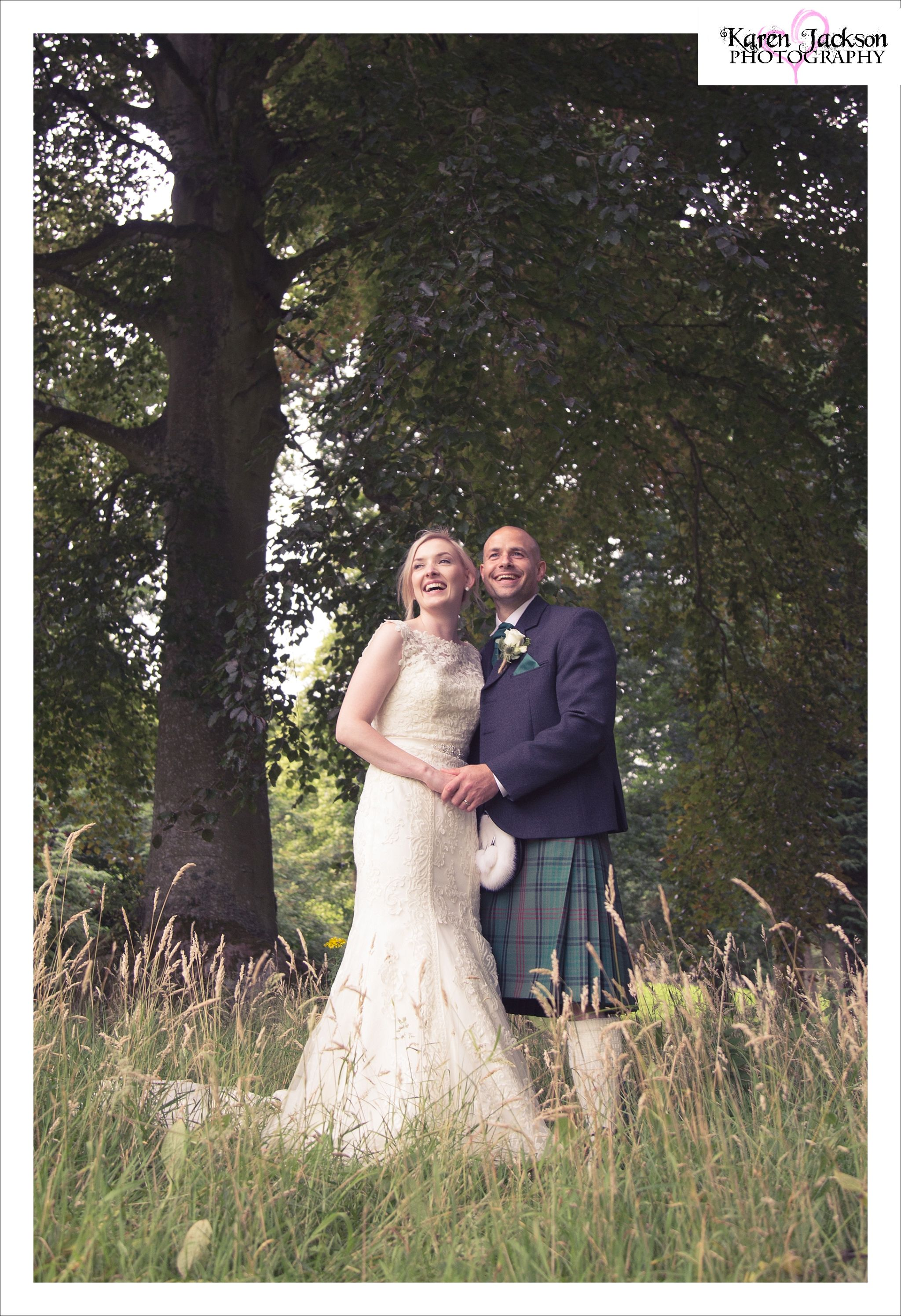 Fingask Castle Wedding Photography Perthshire Scotland Photographer Dundee Karen Jackson Natural Candid Black And White