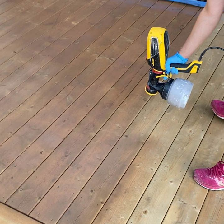 Stain A Deck With A Paint Sprayer In 2020 Paint Sprayer Staining Deck Deck Paint
