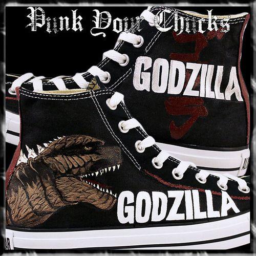 3bcb5855f20 Godzilla Custom Converse Sneakers