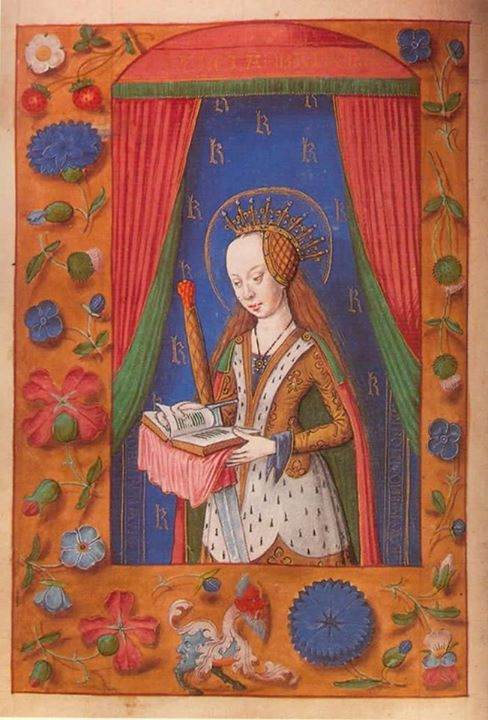 From a book of hours given to Margaret Tudor by her father, Henry VII.