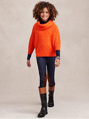Sweater and leggings from the Ralph Lauren Fall Fashion Show 2013