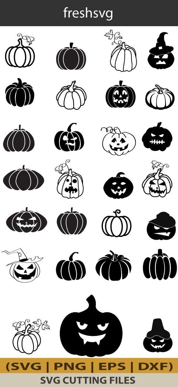 Halloween Pumpkin Svg Halloween Pumpkin Bundle Svg Halloween Etsy In 2020 Halloween Pumpkins Svg Jack O Lantern Faces