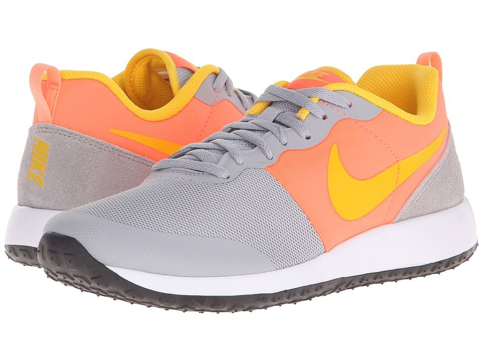 Womens Shoes Nike Elite Shinsen Wolf Grey/Bright Mango/White/Varsity Maize