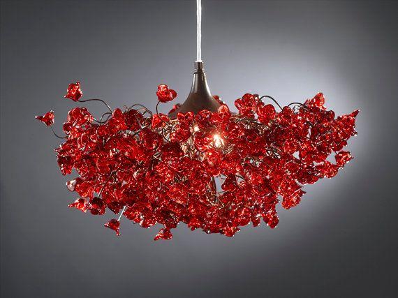 Red Pendant Light Fixture