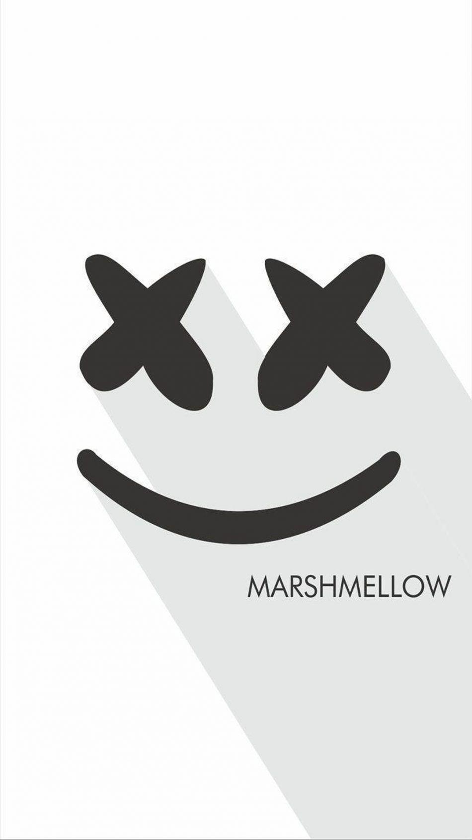 DJ Marshmello Logo Dj logo, Mobile wallpaper, Wallpaper