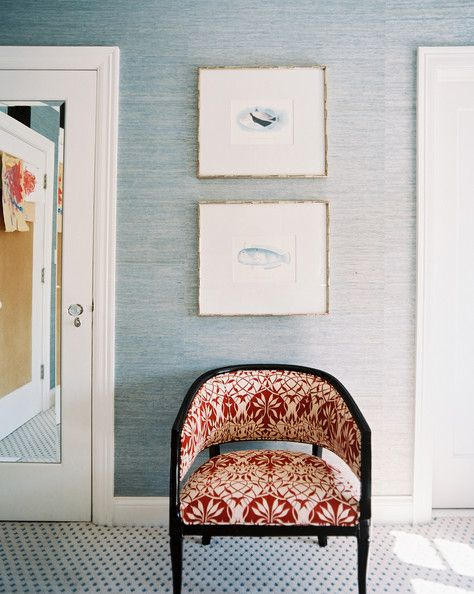 Grasscloth Wallpaper Photos In 2019 Patterned Chair Decor